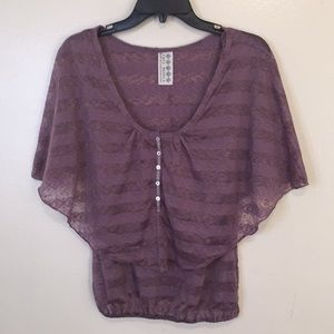 Free People Lavender Blouse